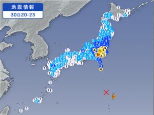 小笠原 地震 地図 震源3