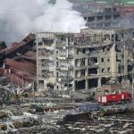 天津市爆発事故 日本企業の被害状況 化学物質で難航 救助活動写真