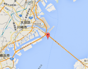 東京アクアライン 東京湾 震源