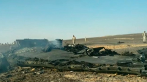 ロシア 旅客機 墜落機体 全体画像