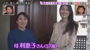 橋本マナミ 両親 母親 画像 顔写真 家族