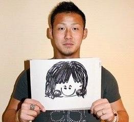 中田翔 結婚相手 画像 似顔絵