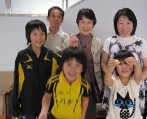 平野美宇 兄弟 祖父母 親戚写真