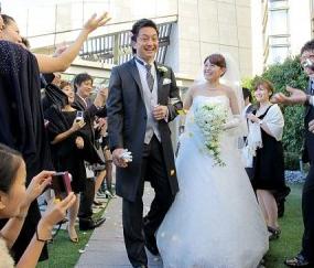 沢村拓一 結婚式 ウェディング 画像